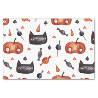 Papier Mousseline Motifs peints par Halloween mignons (Customizeable