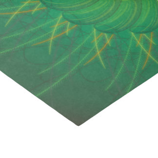 Papier Mousseline Nature personnalisable (spirograph psychédélique)
