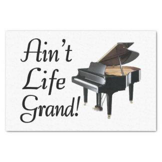 Papier Mousseline N'est pas le piano à queue de la vie