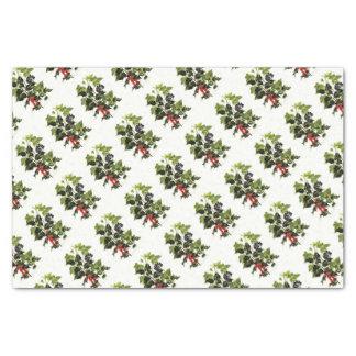 Papier Mousseline Noël de conception de houx et de lierre