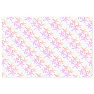 Papier Mousseline Noël de flocon de neige d'étoiles de mer de papier