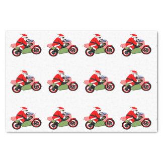 Papier Mousseline Noël de motocycliste