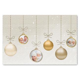 Papier Mousseline Noël ornemente l'or ID251 de modèle photo