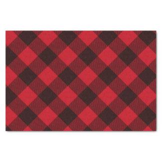 Papier Mousseline Noël rouge et noir de Buffalo de plaid