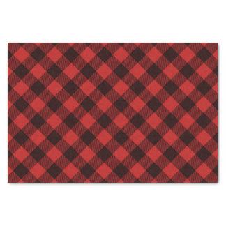 Papier Mousseline Noël rouge et noir de Buffalo de plaid d'hiver