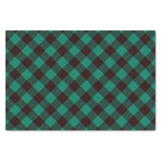Papier Mousseline Noël vert et noir de Buffalo de plaid de motif