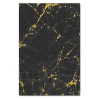 Papier Mousseline Noir et copie de marbre de texture d'or