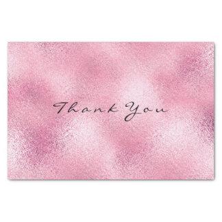 Papier Mousseline Nom métallique en verre de Merci d'or de rose de