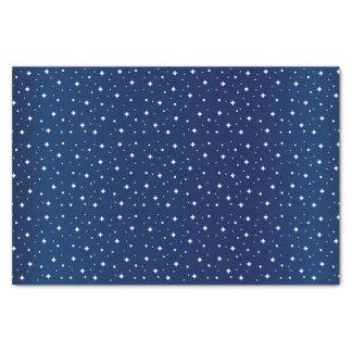Papier Mousseline Nuit étoilée dans le bleu marine de gradient