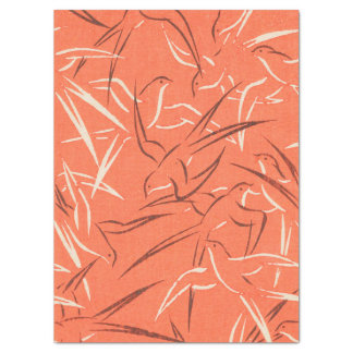 Papier Mousseline Oiseaux de machaon illustrés
