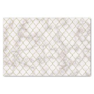 Papier Mousseline Or de marbre blanc Quatrefoil