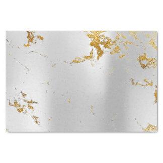Papier Mousseline Or de marbre métallique minimal abstrait de gris
