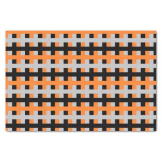 Papier Mousseline Orange abstrait, gris et noir