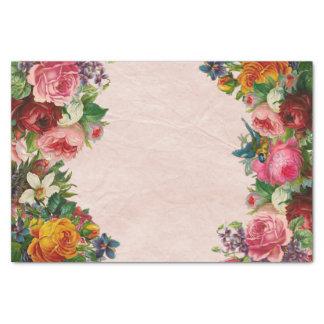 Papier Mousseline Papier de decoupage de bouquet floral