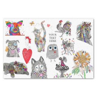 Papier Mousseline Papier de tissu animal (vous pouvez customiser)
