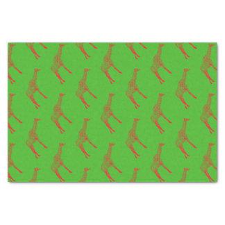 Papier Mousseline Papier d'emballage d'ensemble de girafe de pochoir