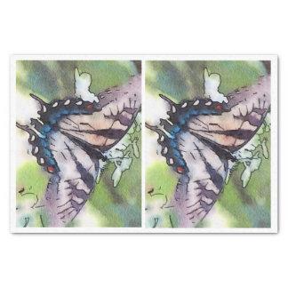 Papier Mousseline Papillon d'aquarelle pour le decoupage de