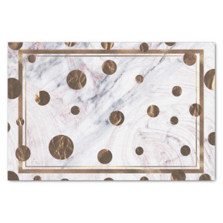 Papier Mousseline Partie à la mode d'or de marbre de remous d'en