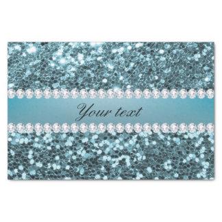 Papier Mousseline Parties scintillantes et diamants assez bleus de