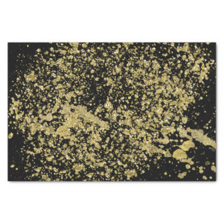 Papier Mousseline Parties scintillantes imprimées par or de Faux