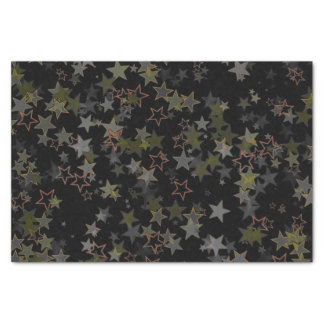 Papier Mousseline Pêche de noir de vert d'armée d'étoile de Noël de