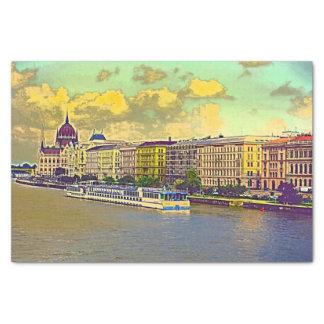 Papier Mousseline Peinture hongroise du Parlement