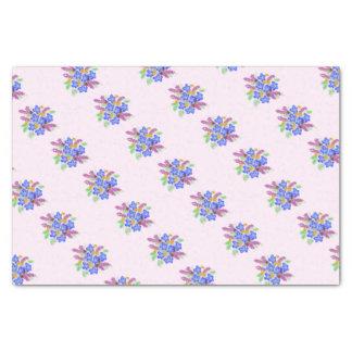 Papier Mousseline Petit bouquet assez floral