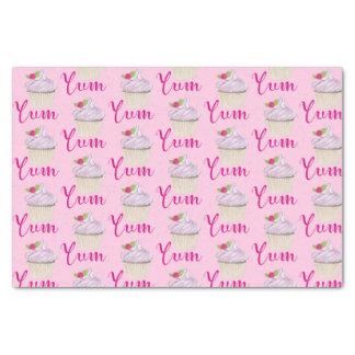 Papier Mousseline Petit gâteau rose rêveur avec la framboise Yum !