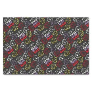 Papier Mousseline Petite Mlle Bad | motif noir, de rouge et de jaune
