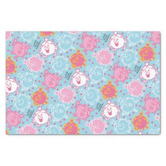 Papier Mousseline Petite Mlle le princesse | motif assez rose et