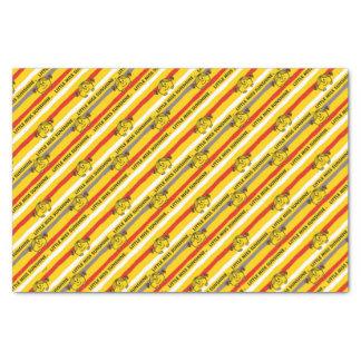 Papier Mousseline Petite Mlle Sunshine | rouge, motif jaune de