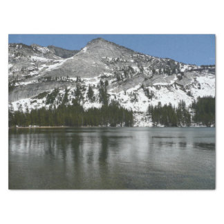 Papier Mousseline Photo de parc national de Yosemite de lac snowy