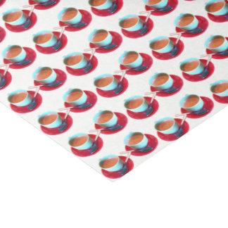 Papier Mousseline Photographie colorée de tasse et soucoupe de café