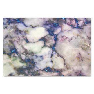 Papier Mousseline Pierre de marbre crème et parties scintillantes