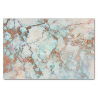 Papier Mousseline Pierre et parties scintillantes de marbre bleues