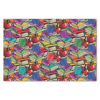 Papier Mousseline Piles de livre avec des pommes