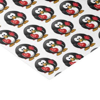 Papier Mousseline Pingouin de Valentine avec du chocolat et le