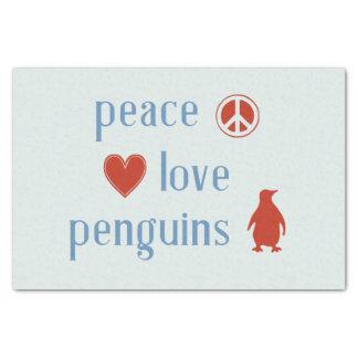 Papier Mousseline Pingouins d'amour de paix