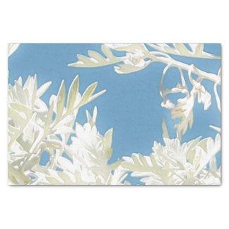 Papier Mousseline Plantes blancs au-dessus de ciel bleu