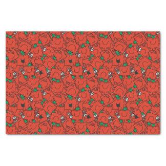 Papier Mousseline Poids de levage de M. Strong | rouges et motif