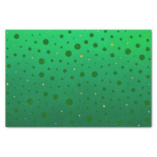 Papier Mousseline Points élégants - or vert - le jour de St Patrick