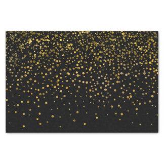 Papier Mousseline Points noirs élégants modernes de confettis de