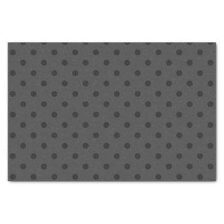 Papier Mousseline Pois gris et gris-foncé moyen