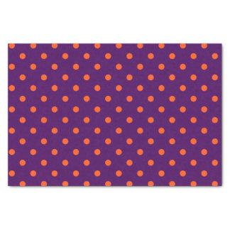 Papier Mousseline Pois moyen d'orange de pourpre et de citrouille