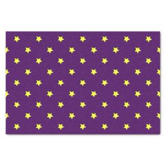 Papier Mousseline Pourpre avec les étoiles jaunes