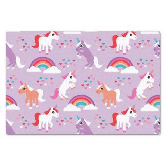 Papier Mousseline Pourpre mignon d'arc-en-ciel de licorne