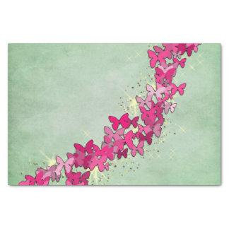 Papier Mousseline Princesse rose de papillon