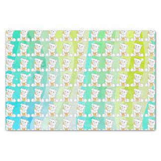 Papier Mousseline Rayures adorables d'aquarelle de girafe d'ours