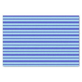 Papier Mousseline Rayures bleues épaisses et minces