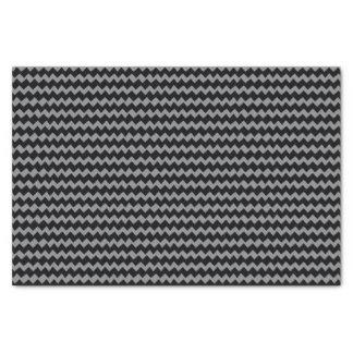 Papier Mousseline Rayures grises et noires de Chevron